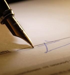 писалка и лист хартия