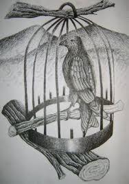 Птиче в клетка